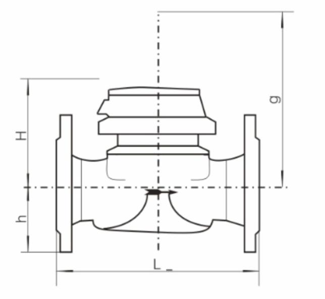 可拆卸螺翼式(发讯)水表